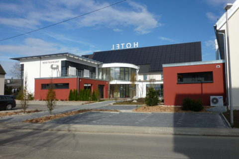 Hotel Ochsen in Merklingen, WDV-System mit Farbgestaltung